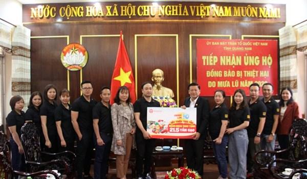 Quảng Nam: 21,5 tấn gạo hỗ trợ người dân bị ảnh hưởng thiên tai