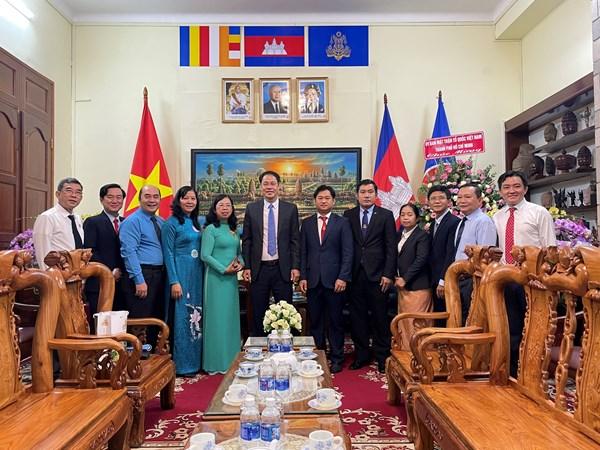 MTTQ Thành phố Hồ Chí Minh thăm, chúc Tết các Lãnh sự quán nhân dịp Tết cổ truyền năm 2021