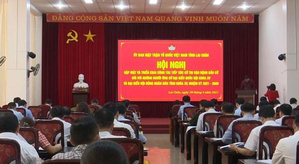 Lai Châu: Gặp mặt và triển khai công tác tiếp xúc cử tri vận động bầu cử