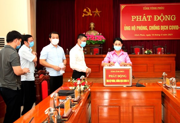 MTTQ tỉnh Vĩnh Phúc phát động ủng hộ phòng chống dịch
