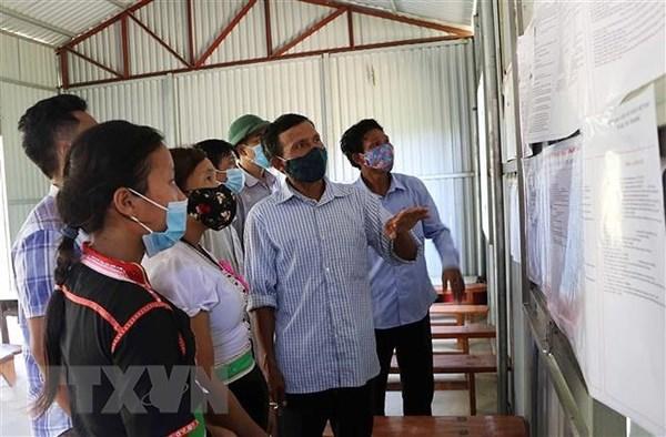 Lai Châu bảo đảm các phương án phòng, chống dịch trong ngày bầu cử