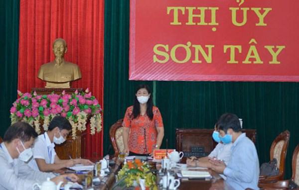 MTTQ thành phố Hà Nội kiểm tra công tác phòng, chống dịch tại Thị xã Sơn Tây