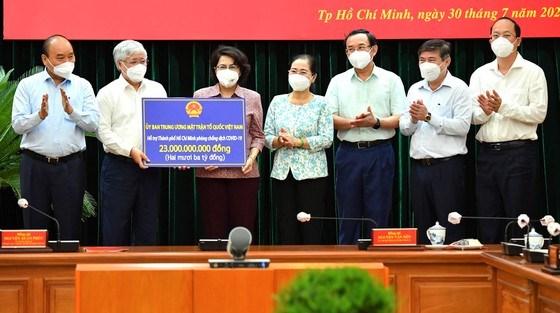 Chủ tịch nước và Chủ tịch UBTƯ MTTQ Việt Nam làm việc với lãnh đạo TP Hồ Chí Minh về công tác phòng, chống dịch