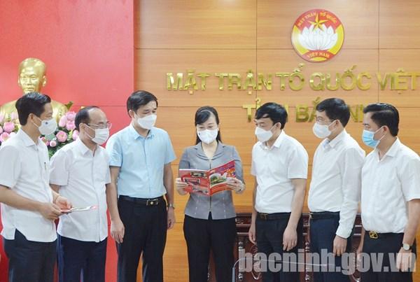 Bắc Ninh: Bí thư Tỉnh ủy Đào Hồng Lan dự sinh hoạt tại Chi bộ Ủy ban MTTQ tỉnh