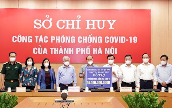 Chủ tịch nước và Chủ tịch UBTƯ MTTQ Việt Nam thăm, động viên các cơ sở y tế và nhân dân Thủ đô tích cực phòng, chống dịch
