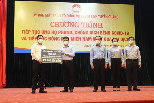 Tuyên Quang: Hơn 7 tỷ đồng ủng hộ công tác phòng, chống dịch và tiếp sức đồng bào miền Nam vượt qua khó khăn