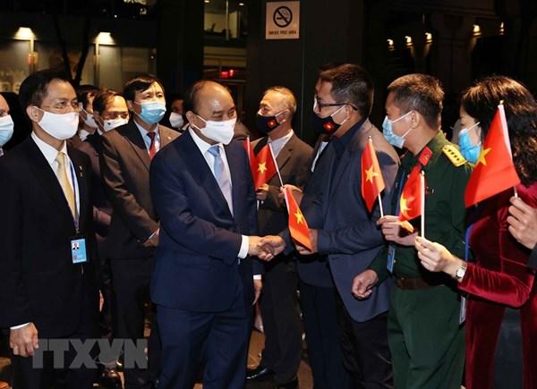 Chủ tịch nước tới New York, bắt đầu chương trình tham dự Đại hội đồng Liên hợp quốc Khóa 76