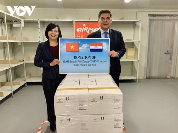 Hungary và Croatia hỗ trợ hàng trăm ngàn liều vaccine ngừa Covid-19 cho Việt Nam