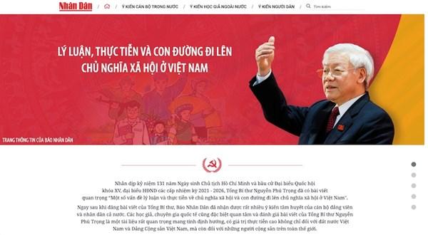 Báo Nhân Dân ra mắt trang thông tin đặc biệt về bài viết của Tổng Bí thư Nguyễn Phú Trọng