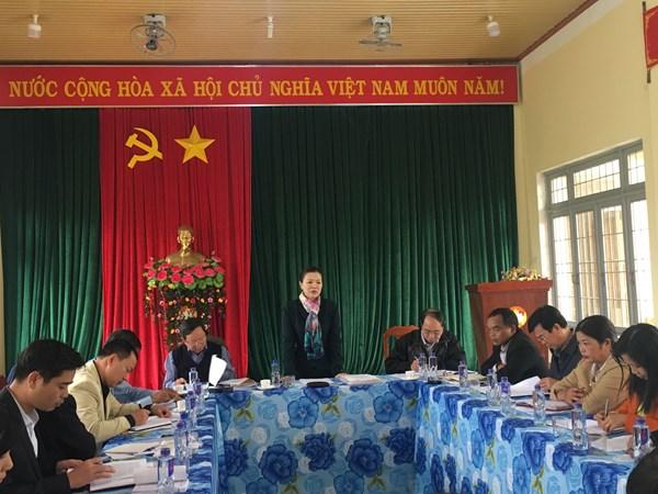 Phó Chủ tịch Trương Thị Ngọc Ánh kiểm tra công tác Mặt trận tại Kon Tum