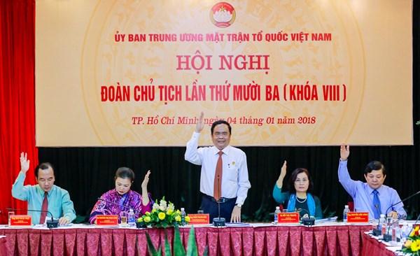 Bế mạc Hội nghị Đoàn Chủ tịch Uỷ ban Trung ương MTTQ Việt Nam lần thứ mười ba