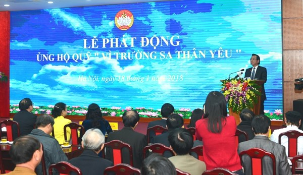 """Hà Nội kêu gọi ủng hộ Quỹ """"Vì Trường Sa thân yêu"""""""