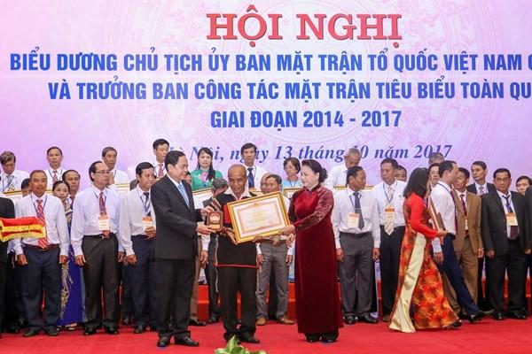 Biểu dương 70 điển hình tiên tiến là Ủy viên Ủy ban MTTQ Việt Nam các cấp