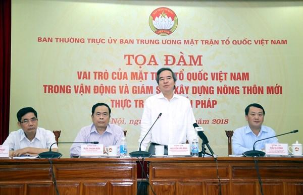 Phát huy vai trò của Mặt trận Tổ quốc Việt Nam trong vận động và giám sát xây dựng nông thôn mới