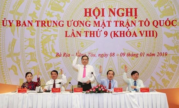 Bế mạc Hội nghị UBTƯ MTTQ Việt Nam lần thứ 9 (khoá VIII)