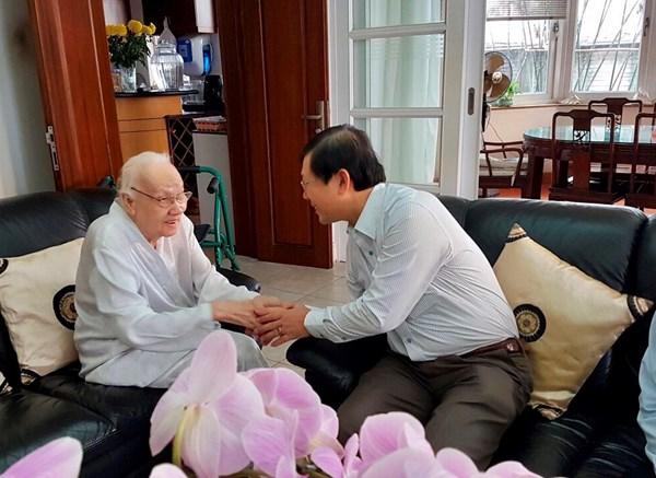 Mặt trận Trung ương chúc Tết gia đình các vị nguyên lãnh đạo Đảng, Nhà nước, MTTQ Việt Nam