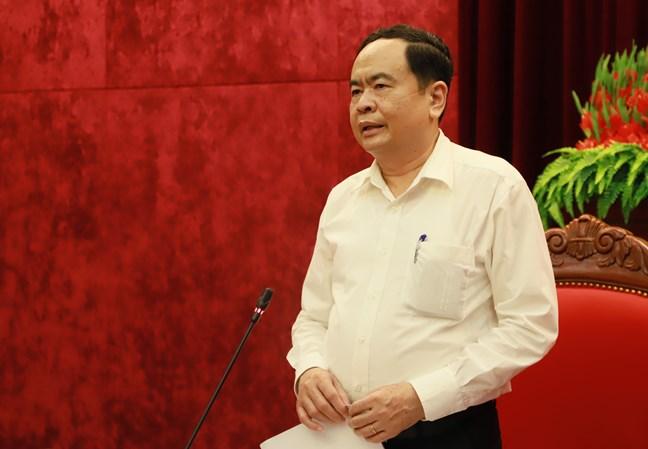 BẢN TIN MẶT TRẬN: Chủ tịch Trần Thanh Mẫn làm việc với Ban Thường vụ Tỉnh ủy Hòa Bình